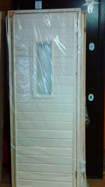 Двери для бани со стеклом