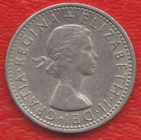 Великобритания Англия 6 пенни 1967 г. Елизавета II в Орле
