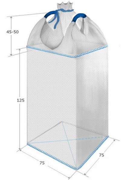 Биг бэг(МКР): две стропы; верх - сборка, низ - глухой