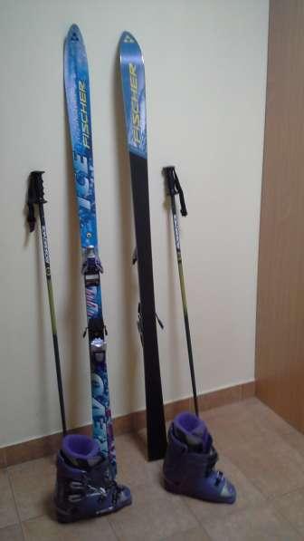 Два комплекта лыж. Слалом, скоростной спуск. Новые. уст. мод