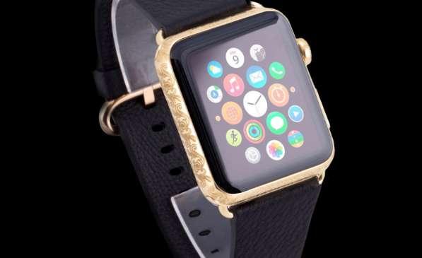 Часы Apple Watch Atlante Russia Leather,золотые