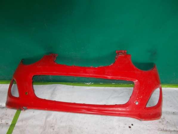 Передний бампер на Kia pikanto (красный)
