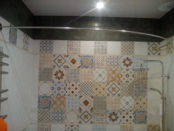 Карнизы, штанги, перекладины для шторки в ванную в Краснодаре фото 7