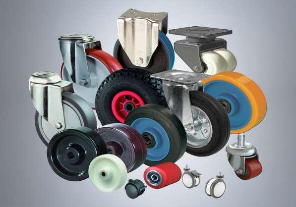 Колеса и колесные опоры для тележек