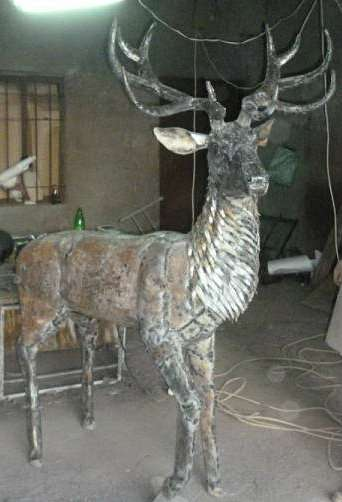 """Кованая скульптура""""Лесной олень&amp"""