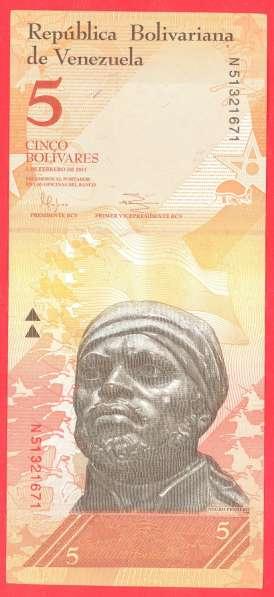 Венесуэла 5 боливаров 2011 г
