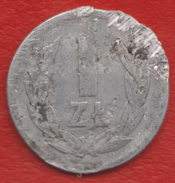 Польша 1 злотый 1949 г. алюминий