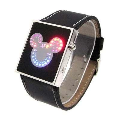 Светодиодные часы Mickey Mouse Купить св