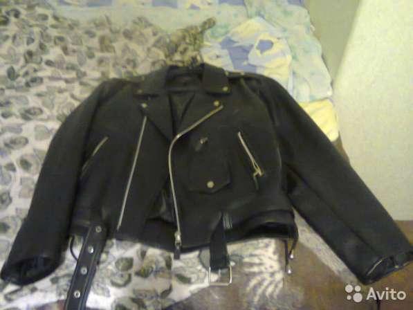 Куртка мужская косуха кожанная