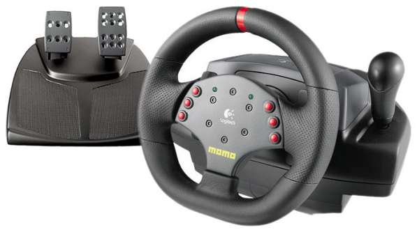Игровой руль и педалиLogitech MOMO Racing Force Feedback Whe