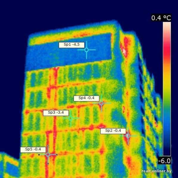Проверка швов в понельных домах тепловизором
