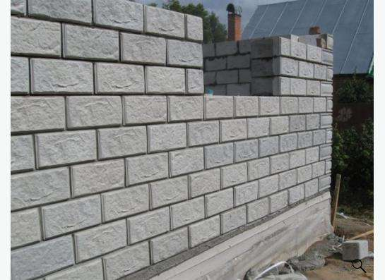 Стеновые блоки с облицовкой от производителя.