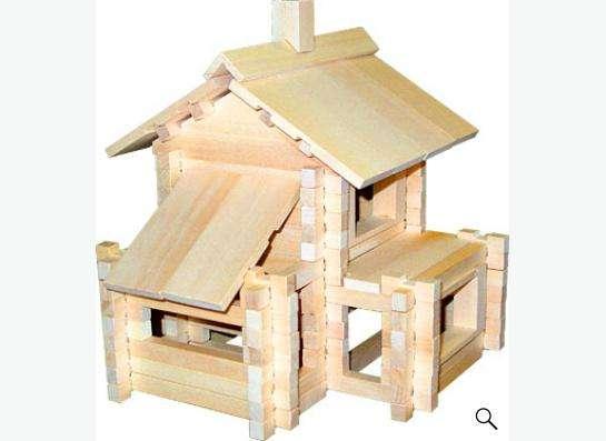 разборный домик (деревянный конструктор)
