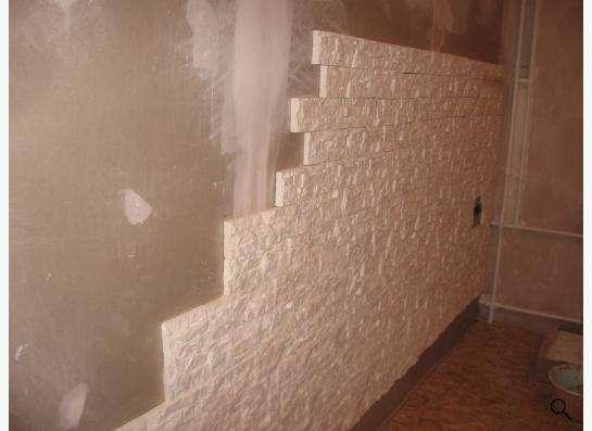 плитка под камень белая гипсовая