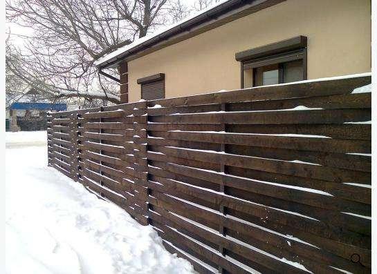 Деревянный забор в Новосибирске фото 5