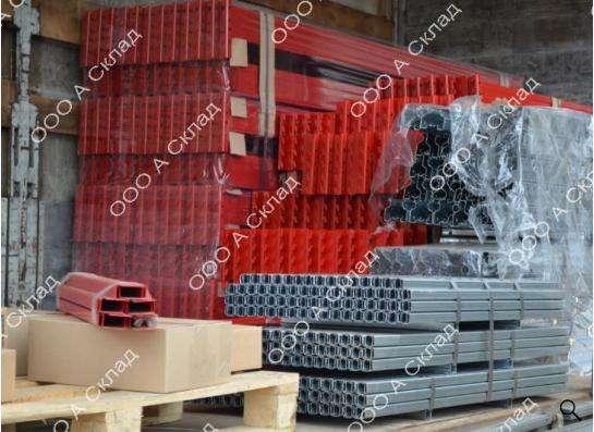 Комплектующие запчасти для складских стеллажей.