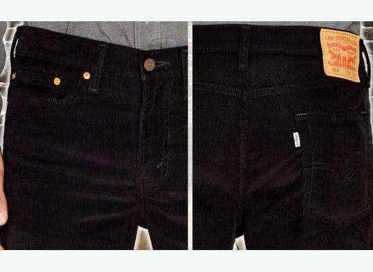 Красивые вельветовые джинсы Levis 514 32х34 в Москве фото 5