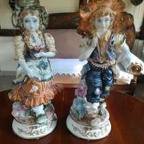 Парные фафроровые статуэтки Италия 68 см, в Перми