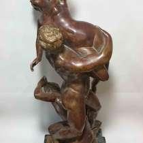Статуя 19 века Похищение Сабинянок. Оригинал 19 века, в Москве