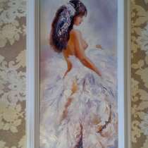 Картина Нежность (девушка, живопись, масло), в Москве