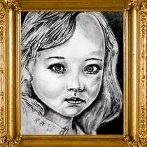 Детские портреты с фото карандашом заказать, в г.Усть-Каменогорск
