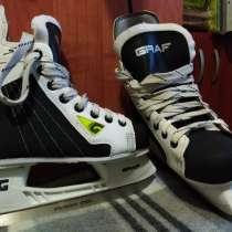 Продаются Новые коньки хоккейные (ГРАФ) 34 размер, в Москве