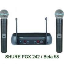микрофон SHURE PGX242/BETA58A радио, в г.Москва