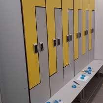 Шкафы HPL локеры для СПА центров, переодевания персонала HPL, в Москве
