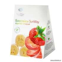 Биослайсы SunWay фруктово-ягодные. Банан + Клубника, в Москве
