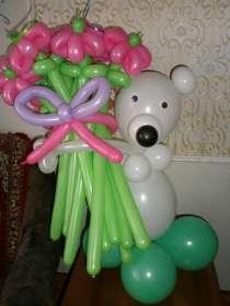 Гелевые шары, цветы из шаров, оформления праздников, в Красноярске