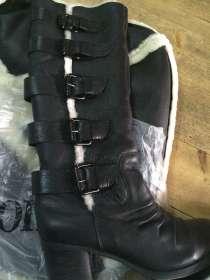 Зимние кожаные сапоги,38, в Краснодаре