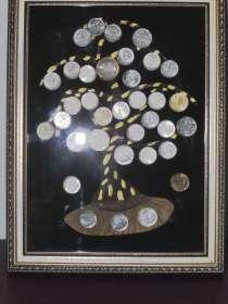 """Картина панно из монет """"Денежное дерево"""" размер 24х32, в Владикавказе"""
