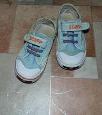 Кеды детские Зебра б/у р.27(17,5см) джинсовые светлые за Ва, в Одинцово