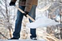 чистим снег в ручную, в г.Самара