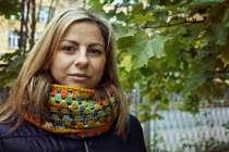 Вязаный шарф в оттенках осени. Прекрасный подарок!, в Санкт-Петербурге