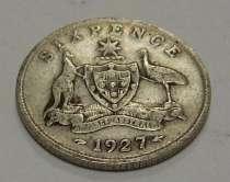 6 пенсов, 1927 г Австралия. Серебро, в г.Киев
