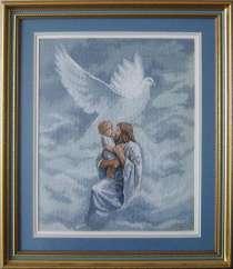 Картина «К Молитве о Святом Духе», ручная работа, вышивка, в г.Минск