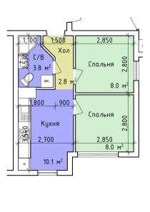 Доступное жилье всем желающим! Рассрочка, первый взнос 40%, в г.Киев