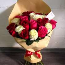 25 роз в крафте по 1600 руб, в Иркутске
