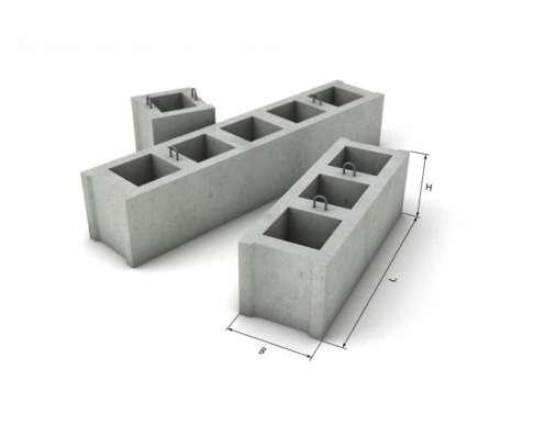 Блок фундаментный бетонный для дачи
