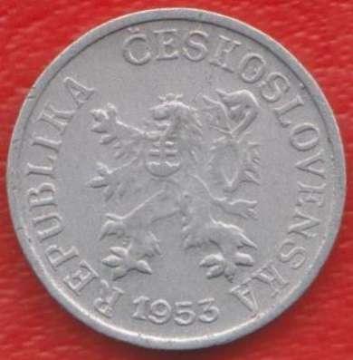 Чехословакия 1 геллер 1953 г.