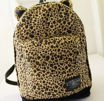 Рюкзак городской Леопард с ушками