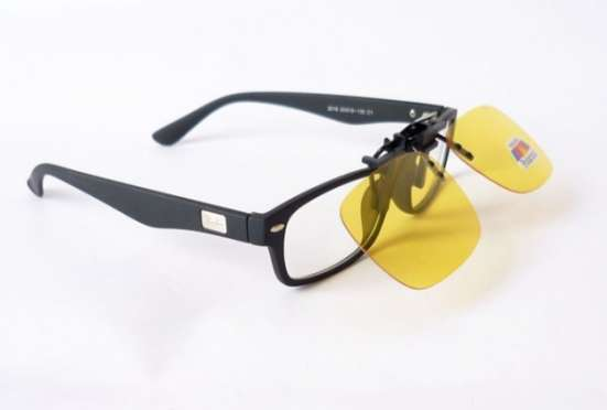 Солнцезащитные накладки со 100% поляризацией на очки с диоптриями