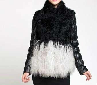 Дизайнерская меховая куртка
