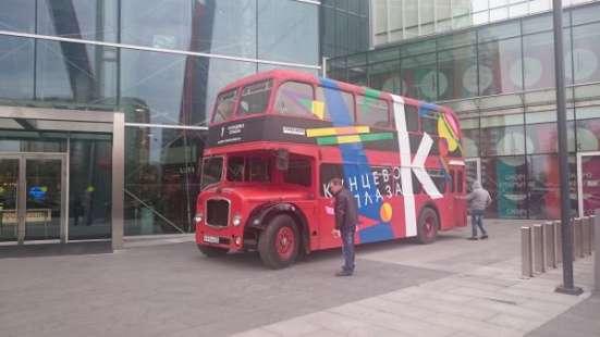 RetroBus – реклама на английском 2-этажном ретро автобусе в Москве Фото 5