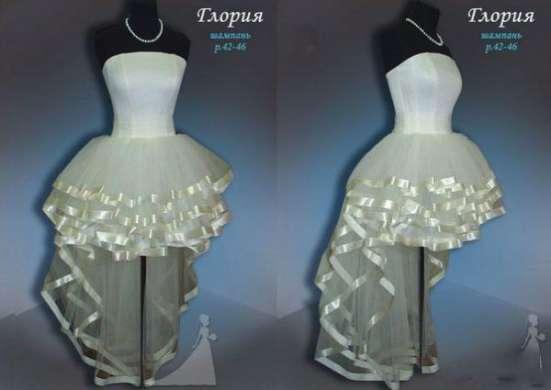 Свадебное платье каскадом