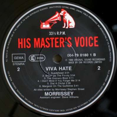 Morrissey - Viva Hate в Санкт-Петербурге Фото 1