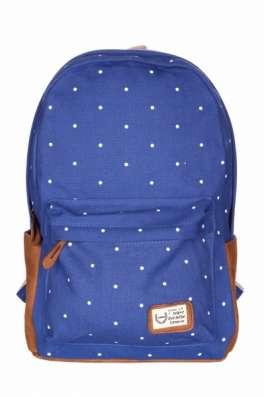 Рюкзак городской Горошины синий голубой черный