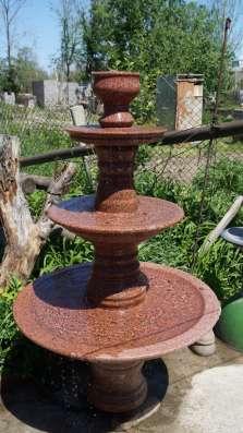Фонтаны разной сложности из Кордайского гранита в г. Алматы Фото 1