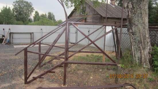 Крыльцо цельно металлическое с козырьком в г. Вологда Фото 1